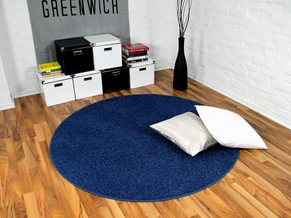 teppich blau rund g nstig online kaufen bei yatego. Black Bedroom Furniture Sets. Home Design Ideas