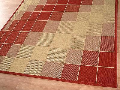 teppich flachgewebe ruggy rot beige abverkauf kaufen bei teppichversand24. Black Bedroom Furniture Sets. Home Design Ideas