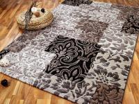 Venezia Luxus Designer Teppich Barock Patchwork Beige