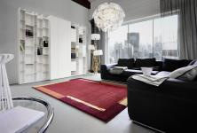 Astra Luxus Teppich Samoa Design Bordüre Classic Rot