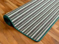 Streifenberber Teppich Grün Stripes in 24 Größen