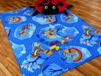 Kinder Spielteppich Winnie Puuh Blau in 24 Größen