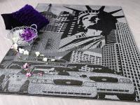 Designer Flachgewebe Life New York Grau