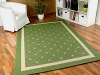 Teppich Flachgewebe Ruggy Grün Bordüre in 6 Größen