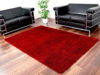 Hochflor Shaggy Teppich Luxus Feeling Rot - REDUZIERT