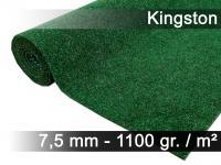 Kunstrasen Rasenteppich mit Noppen Kingston Grün Mix