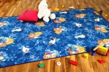 Kinder Spiel Teppich Walt Disney Frozen Blau