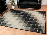 Teppich Flachgewebe Ruggy Schwarz Grau - ABVERKAUF