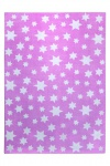 Wecon Home Teppich Cosmic Glamour Jeans Star Rosa