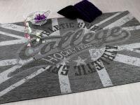 Designer Flachgewebe Life College Hockey Grau