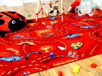 Spiel Kinderteppich Disney Cars Rot in 24 Größen