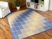 Teppich Flachgewebe Ruggy Blau Beige - ABVERKAUF
