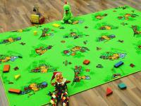 Kinder Spielteppich Bärenwelt Grün in 24 Größen