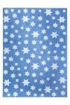 Wecon Home Teppich Cosmic Glamour Jeans Star Blau