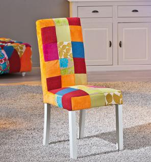 Stuhlset 2x Stuhl Patchwork Massivholz weiß Summerfield-5