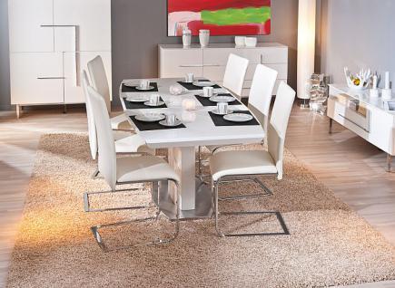 tisch esstisch ausziehbar hochglanz wei wyoming kaufen bei eh m bel. Black Bedroom Furniture Sets. Home Design Ideas