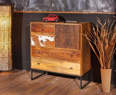 highboard kommode shabby chic mangoholz massiv 4 schubladen 1 t r saltlake kaufen bei eh. Black Bedroom Furniture Sets. Home Design Ideas