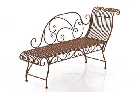 Longchair Recamiere Metall 5 Farben CL-Karo