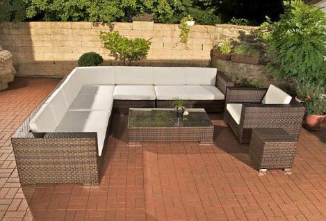 8-tlg. Lounge Set Sitzgruppe Gartenmöbel Rattan 2 Farben CL-Balco