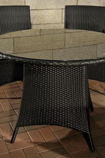 5-tlg Sitzgruppe Lounge Gartenmöbel Teak Rattan schwarz CL-Santo - Vorschau 4