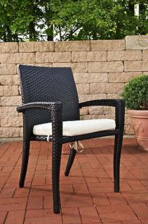 Stuhl Gartenstuhl stapelbar Gartenmöbel Rattan schwarz weiß CL-Scola
