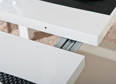 tisch esstisch ausziehbar hochglanz wei oklahoma kaufen bei eh m bel. Black Bedroom Furniture Sets. Home Design Ideas