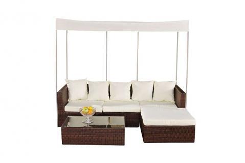4-tlg Lounge Set Gartenmöbel Baldachin 2 Farben CL-Mexico