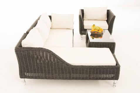 4-tlg Lounge Set Kissen 5 Farben Polyrattan schwarz CL-Mayis-S