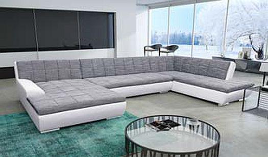 sofa wohnlandschaft grau g nstig kaufen bei yatego. Black Bedroom Furniture Sets. Home Design Ideas