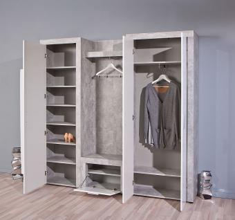 schrank betonoptik hellgrau wei l brain 20 1 kaufen bei. Black Bedroom Furniture Sets. Home Design Ideas