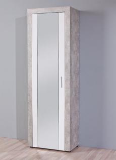 Schuhschrank spiegel betonoptik hellgrau wei l brain 15 1 for Schuhschrank betonoptik