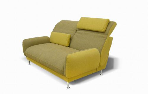 Sofa inkl. Kissen 2 Farbkombinationen Materialmix DO-Bionda-1