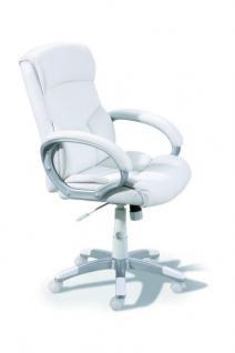 Schreibtischstuhl Bürostuhl weiß Wippfunktion Albero