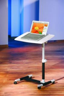 Computertisch Laptoptisch neigungsverstellbar höhenverstellbar weiß Alox