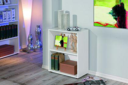 Bücherregal 1 variabler Einlegeboden weiß Arc 1