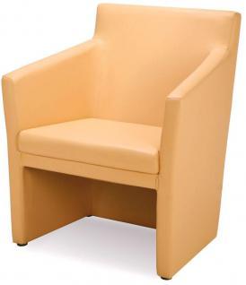 Sessel Objektmöbel Lounge-Sessel Echtleder schwarz NS-Arkansas - Vorschau 1