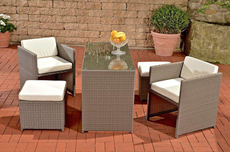 gartenm bel sitzgruppe rattan lounge. Black Bedroom Furniture Sets. Home Design Ideas