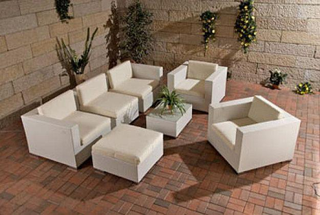 Rattan lounge grau günstig  Gartenmöbel Rattan Lounge günstig kaufen bei Yatego