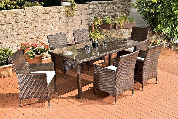Gartenmöbel set rattan schwarz  Gartenmöbel Braun Rattan günstig kaufen bei Yatego