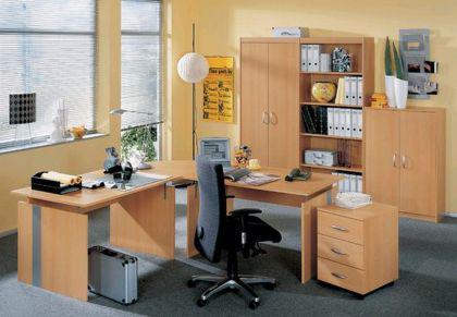 Büromöbel Büroeinrichtung Objektmöbel Wellemöbel Buche 7-teilig