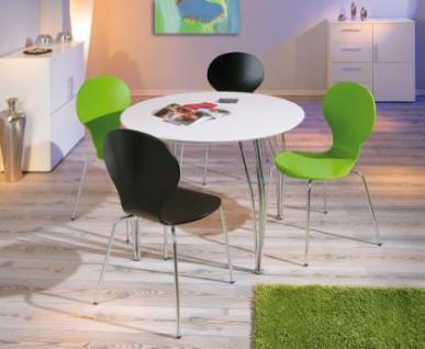 Stuhlset 4tlg. Stuhl natur weiß schwarz grün Folici