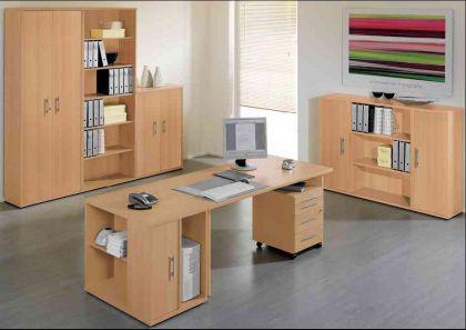 Büromöbel 9-teilig Objektmöbel Büroeinrichtung Wellemöbel versch. Farben Combi3