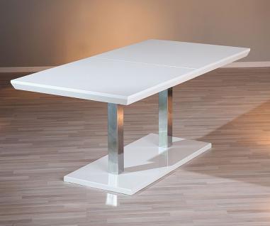 tisch esstisch ausziehbar hochglanz wei chrom errision kaufen bei eh m bel. Black Bedroom Furniture Sets. Home Design Ideas