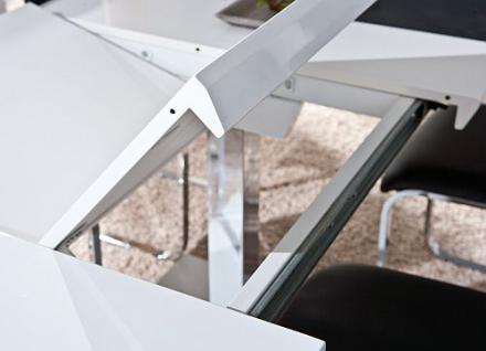 tisch esstisch ausziehbar hochglanz wei chrom errision. Black Bedroom Furniture Sets. Home Design Ideas
