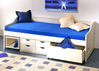 Kinderbett Bett Massivholz weiß oder Kiefer natur Mixi Floh