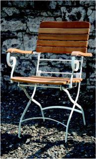 Stuhl Gartenstuhl Armlehnen klappbar Robinie massiv AW-Franko-2
