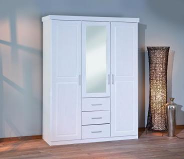 kleiderschrank schrank 3t rig spiegel massivholz wei garell kaufen bei eh m bel. Black Bedroom Furniture Sets. Home Design Ideas