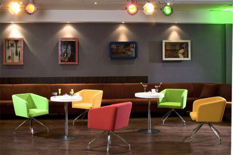 Sessel Lounge-Sessel Objektmöbel schwarz rot grün beige orange NS-Haiti