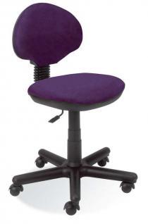Schreibtischstuhl Kinderdrehstuhl höhenverstellbar 12 Farben NS-Karo