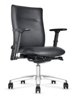 Bürostuhl Objektmöbel Armlehnen schwarz NS-Karlo
